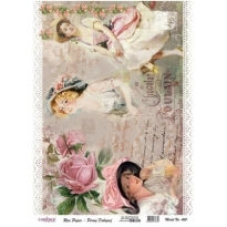 Model 460 - Rice Paper Decoupage
