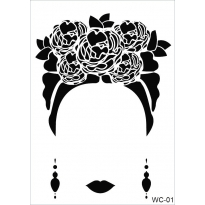 WC1 - Woman Collection A4 Stencil