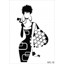 WC15 - Woman Collection A4 Stencil