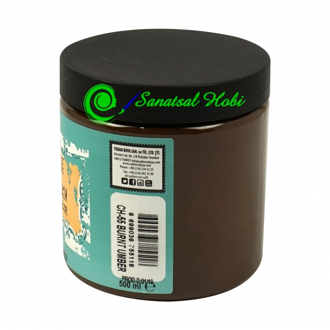 CH55 BURNT UMBER - 500ML VERY CHALKY HOME DECOR